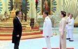 Remise des lettres de créance de l'ambassadeur de France au Roi de Thaïlande
